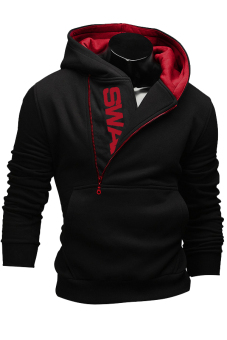 Cocotina Hooded Zipper Jacket (Red/Black)