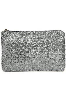 Cocotina Sequins Clutch Bag (Silver)
