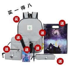 College style canvas Japanese and Korean style junior high school student school bag backpack (Deer