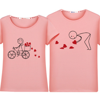 Cool New style short sleeved t-shirt (Pink)