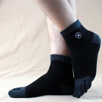Cotton Four Seasons models in Short Tube toe socks points toe socks (Black)