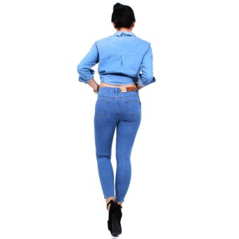 Cotton Republic Classy Denim Ripped Denim Jeans - Selena (DenimBlue) - 5