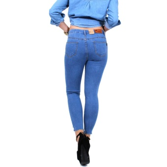 Cotton Republic Classy Denim Ripped Denim Jeans - Selena (DenimBlue) - 4