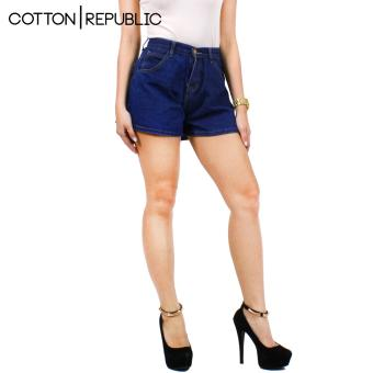Cotton Republic Comfortable Denim Shorts - Sexy Mary (Denim Blue)