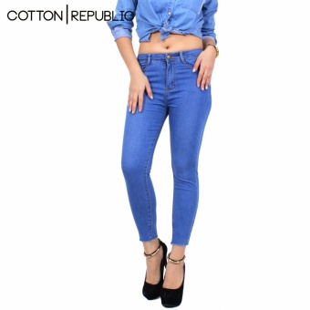 Cotton Republic Comfy Denim Skinny Jeans - Greta (Denim Blue)