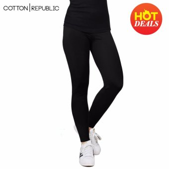 Cotton Republic Fashionable Plain Leggings (Black)