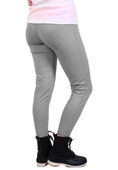 Cotton Republic Fashionable Plain Leggings (Gray) - 2