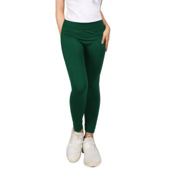 Cotton Republic Modern Fashionable Plain Leggings (Green) Price Philippines