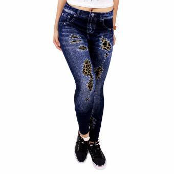 Cotton Republic Modern Fashionable Printed Jeggings - Sienna(Denim) Price Philippines