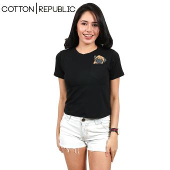 Cotton Republic Pocket Design Crop Top/Blouse - PUG (Black) Price Philippines