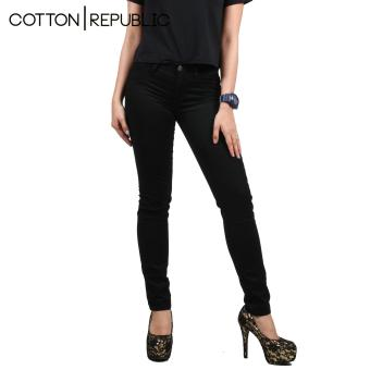 Cotton Republic Soft Stretchable skinny Jeans (Black) - 3