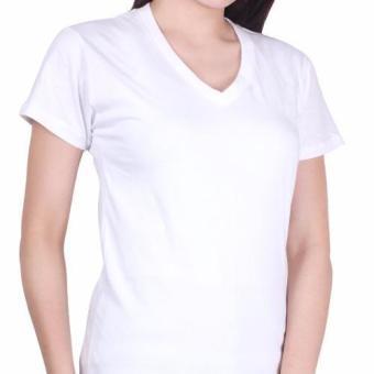 Cotton Republic V-Neck Shirt (White) - 3