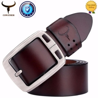 COWATHER 100% Cow Leather Belts For Men - Mens Cow Genuine Leather Belt for Dress & Jeans - Big & Tall Size - Great