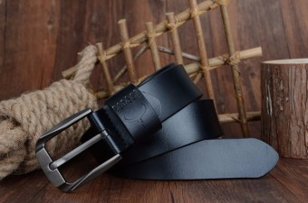 "COWATHER Men's Genuine Leather Belts for Men Lalaki tunay na katad na sinturon 100% Cow Genuine Leather Belts Male Pin Buckle Strap Dress Reversible Belt 1-1/2"" Strap Width XXS-XXL - 5"