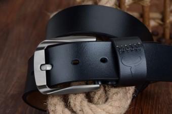 "COWATHER Men's Genuine Leather Belts for Men Lalaki tunay na katad na sinturon 100% Cow Genuine Leather Belts Male Pin Buckle Strap Dress Reversible Belt 1-1/2"" Strap Width XXS-XXL - 3"