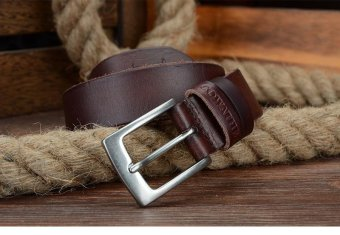 COWATHER Men's Top Soft Casual Cow Genuine Leather Belt with Single Prong Buckle Ratchet Dress Waistband Belts - 2