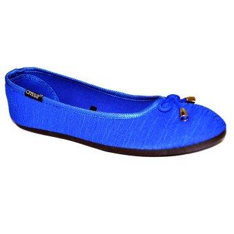 Crissa Steps Divine Ballet Flats (Blue)