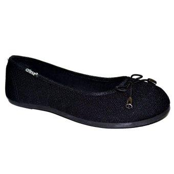 Crissa Steps Tara Ballet Flats (Black)