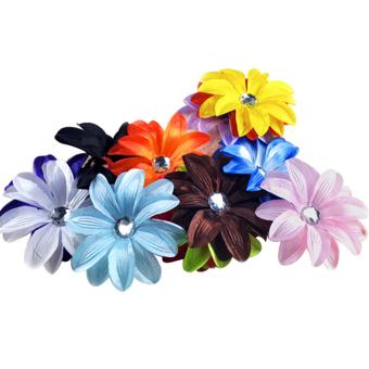 Crystal Flower Hair Clip Set of 13 (Multicolor)
