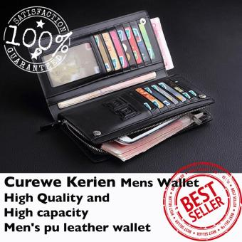 Curewe Kerien men's pu leather wallet - High capacity and High Quality - CLASSIC BLACK COLOR - 2