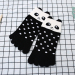 Cute children's animal cartoon tube for men and women socks cotton toe socks ([Small] three-dimensional Black Bear)