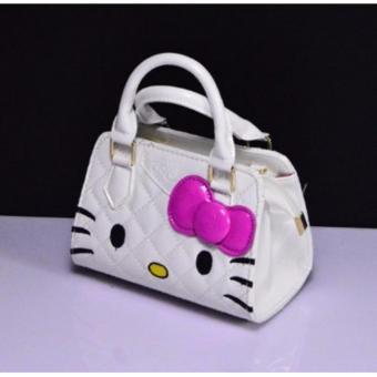 Cute Girl Hello Kitty Handbag Bag/Sling Bag (White) - 2