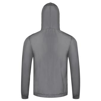 Cyber Bicycle Cycling Jacket Waterproof Windproof Wind Coat RainCoat ( Grey ) - 5