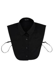 Cyber Half Tie Detachable Turn-down Collar (Black)
