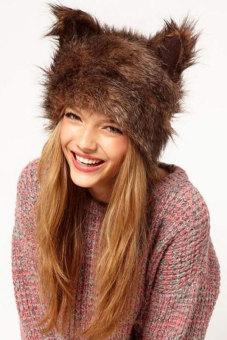 Cyber Women's Rabbit Ears Shape Cap Hat (Multicolor)