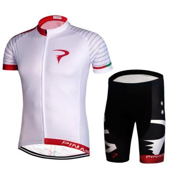 Cycling Bicycle Bike Outdoor Jersey + Shorts Short SleevesBreathable Riding Clothes Pants - intl