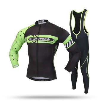 Cycling Sets MTB Clothes Bicycle Jersey Sets(Black) - intl Price Philippines