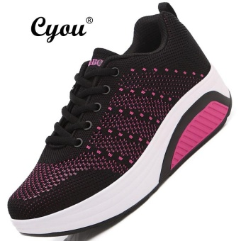 CYOU 2017 New Arrivals Air Mesh Women Boots Work Safety Shoes Steel Toe Cap For Anti-Smashing Anti-Puncture Durable Breathable Protective Footwear Kasut Wanita (Black-Pink) - intl