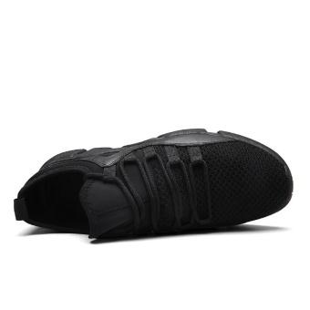 CYOU Running Shoes Light Weight Mesh Sports Shoes Jogging Sneakers For Man Outdoor Flat Walking Trend Shoes Kasut Lelaki (Black) - intl - 2