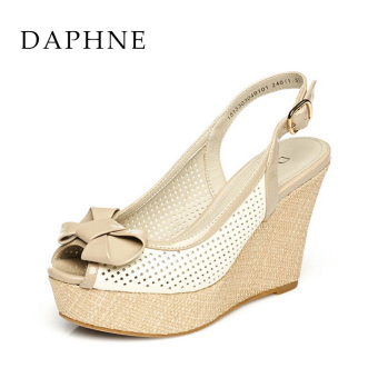 Daphne sweet New style Cooljie porous sandals (White 101)