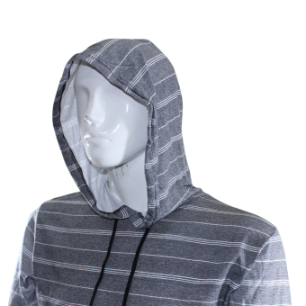 DC Hoddie Fashion Jacket - Gray/Black Stripes - 3