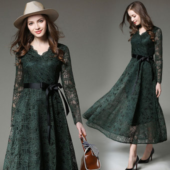 Debutante European and American female autumn New style expandable skirt dress