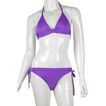 DHS Lingerie Swimwear Bikini Set (Purple) - Intl