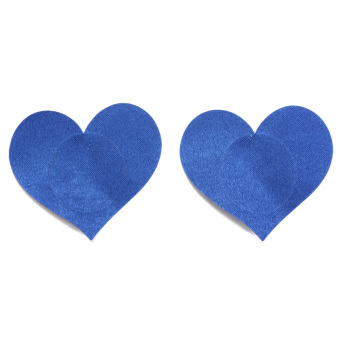 Disposable Sexy Love Heart Adhesive Breast Nipple Cover (Blue)