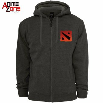 DOTA 2 Unisex Zip-Up Hoodie Jacket (Grey) - 2