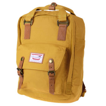 Doughnut Waterproof Students Backpack Nylon Backpack Computer BagYellow - 2