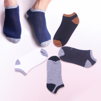 Dress summer thin no-show socks (Stitching men's Socks 5 double)
