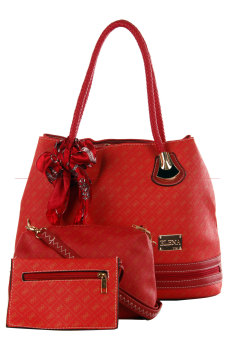 Elena 1255 Shoulder with Sling Bag and Wallet (Red) Price Philippines