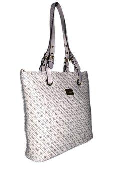 Elena 6048 Shoulder Bag with Sling Bag and Wallet (White) - picture 2