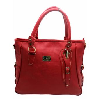 Elena E336Shoulder Bag With Sling And Wallet (Red) - 2