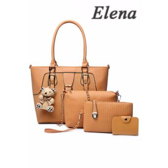 Elena X-518 5 in 1 Premium Bag Set (Apricot)With Mini Teddy