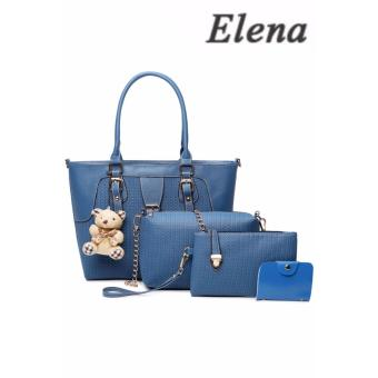 Elena X-518 5 in 1 Premium Bag Set (Blue)With Mini Teddy