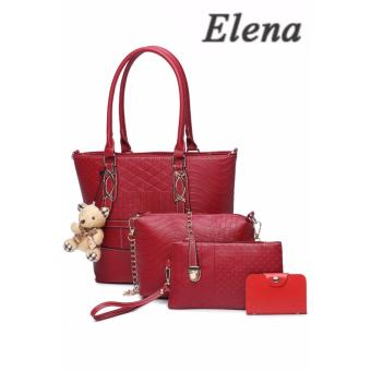 Elena X-519 5 in 1 Premium Bag Set (Red)With Mini Teddy