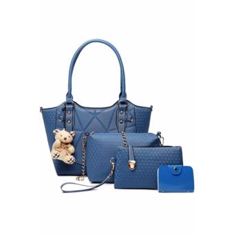 Elena X-520 5 in 1 Premium Bag Set (Blue)With Mini Teddy