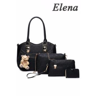 Elena X-521 5 in 1 Premium Bag Set (Black)With Mini Teddy