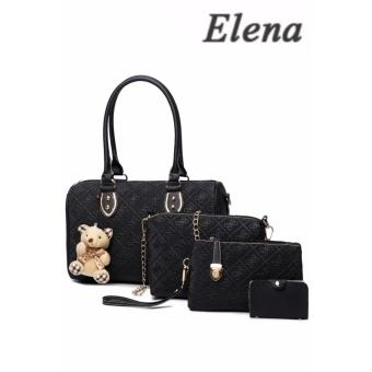 Elena X-522 5 in 1 Premium Bag Set (Black)With Mini Teddy
